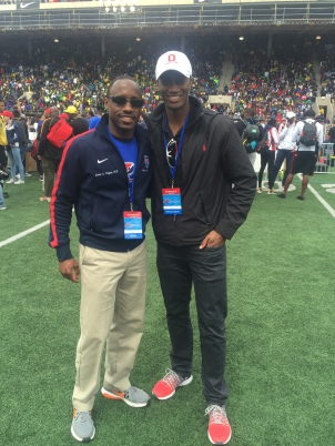 Dr. Alexis Tingan and I, Penn Relays 2016